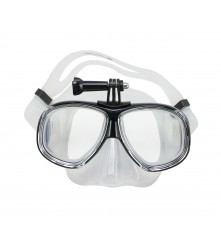 Silicone Dive Mask (With GoPro Mount) - (MZDSDM1-BK)