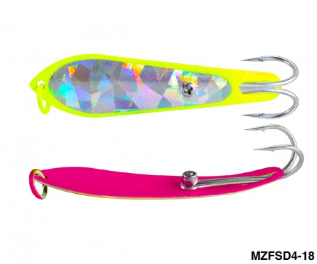 Fishing Spoon with Double Hooks (Size: 4)- MZFSD4-XX
