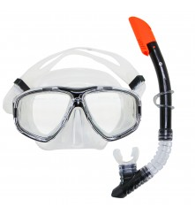 Snorkeling Set (Premium Silicone) - MZDCS2-BK