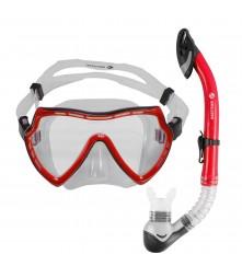 Snorkeling Set (Premium Silicone) - MZDCS1-RD