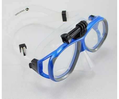 Silicone Dive Mask (With GoPro Mount) - (MZDSDM1-BL)