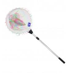 Telescopic Fishing Nylon Colorful Braided Net (210cm) - MZFN01-NCB