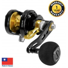 OMOTO - Talos (NTS-Series)  Sport Jigging Reel (Black and Gold) - NTS10N-RH-HG-BG