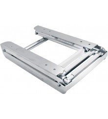 S.S Bracket Telescopic Ladder With Stopper, Mirror Polished - (03501457ST & 03501458ST)