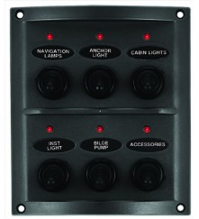 6 Gang Switch Panel (With LED Indicators) - (10164-LT)
