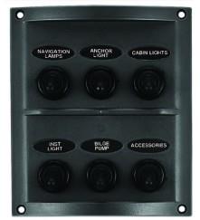 6 Gang Switch Panel Model: 10064