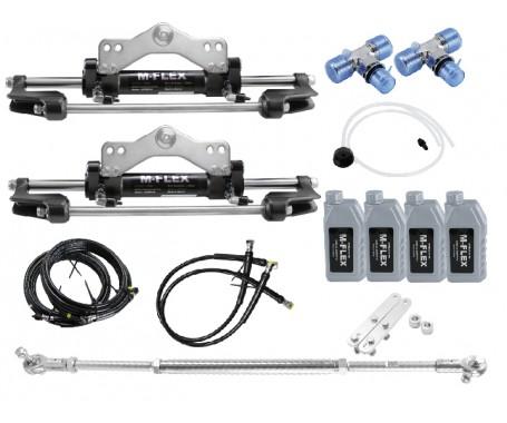 M-FLEX Hydraulic System For Dual Engine With Dual Cylinder Upto 600HP - HSKMFX2C-R