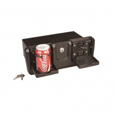 Glove Box with Drink / Can Holder - Black
