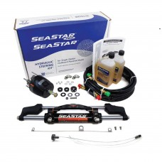 SeaStar Hydraulic Steering System with 24 FT Hose Kit