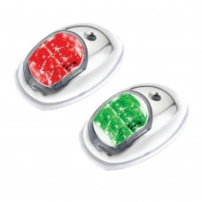 LED Navigation Side Light Red & Green Pair - (C91106S-W)