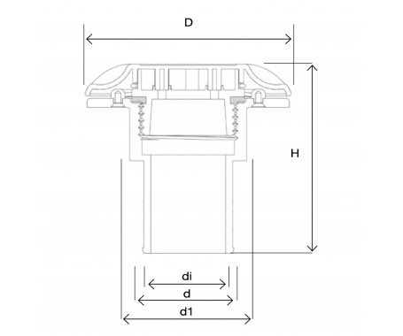 Deck Fill - Water Ø 38mm