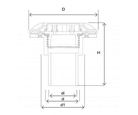 Deck Fill - Fuel Ø 38mm & Ø 50mm