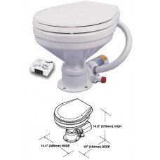 Electric Marine Toilet - Large Bowl - 12V