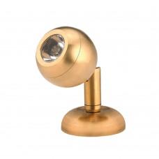 LED Mini Brass Reading Light - Surface Mount Model: 00003-BLW