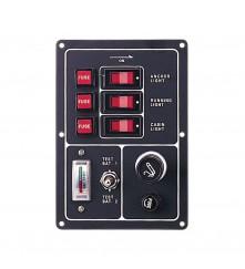 3 Gang Switch Panel (Battery Test Gauge & Cigarette Lighter)