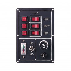 3 Gang Switch Panel (Battery Test Gauge & Cigarette Lighter)