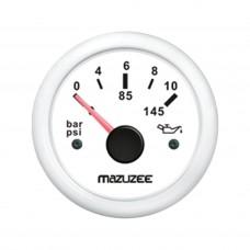 Oil Pressure Gauge - White