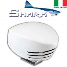 SHARK Single horn, white plastic, blister