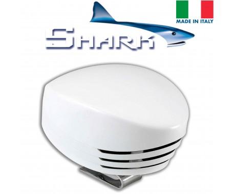 SHARK Single Horn - White Plastic; Blister