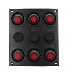 6 Gang Switch Panel Model: 10040-BK