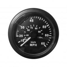 Speedometer - 65 MPH - Black