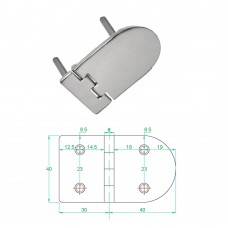 Stainless Steel Heavy Duty Hinge 316 Model No: 81005-02/1