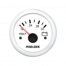 Volt Gauge - 18V - 32V - White - JY13303