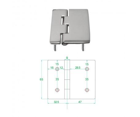 Stainless Steel Heavy Duty Hinge 316 Model No: 81012-02/1
