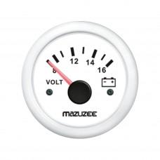 Volt Gauge - 8V - 16V - White - JY13302