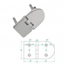 Stainless Steel Heavy Duty Hinge 316 Model No: 81006-02/1