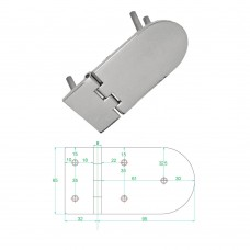 Stainless Steel Heavy Duty Hinge 316 Model No: 81008-02/1