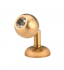 LED Mini Brass Reading Light - Surface Mount