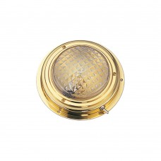 "Brass Dome Light 4"" - Surface Mount"