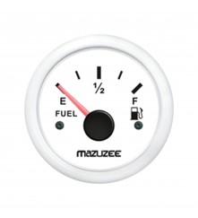 Fuel Gauge - White