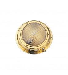 "Brass Dome Light 4"" - Surface Mount"