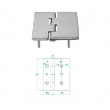 Stainless Steel Heavy Duty Hinge 316 Model No: 81013-02/1