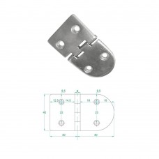 Heavy Duty Hinge S.S 316 Model No: 81006-01/1