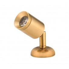 LED Mini Brass Reading Light - Surface Mount Model: 00002-BLW