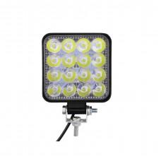 LED Work Light (48W Square Waterproof 16 LED)