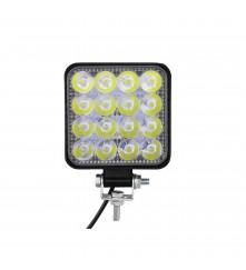 16 LED Square Waterproof Work Light - 42W - (LEDWL-S-01)