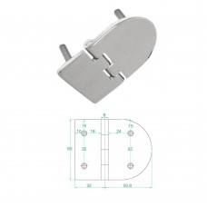 Stainless Steel Heavy Duty Hinge 316 Model No: 81003-02/1