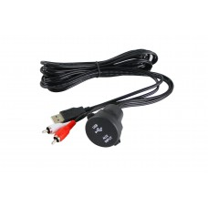 Boat Extension Cable Adapter Marine Dash Mount USB AUX RCA - MZMUSBA-01