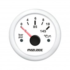 Oil Pressure Gauge - White