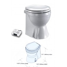 Electric Marine Toilet - Luxury Home Type Skirted Bowl