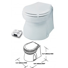 Electric Marine Toilet - Medium Skirted Bowl