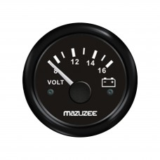 Volt Gauge 8V - 16V - Black