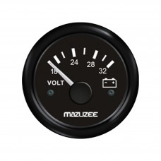 Volt Gauge - 18V - 32V - Black