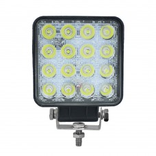 LED Spot Light 16 LED - Surface Mount MS-2210-48W-BK