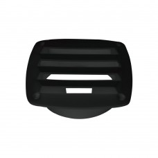 Black Plastic Louvered Vent