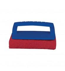 Scrub Pad with Handle (Medium) Red - 040130